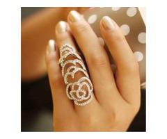 Rose Shaped Cutout Ring