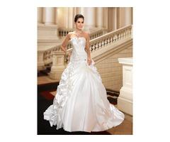 Ball Gown Sweetheart Rhinestone Embellishing Pick-ups Wedding Dress