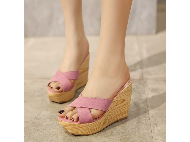 aceea7ac3ff Cross Slip-On Platform Wedge Heel Mules Shoes - Clothing - Wray ...