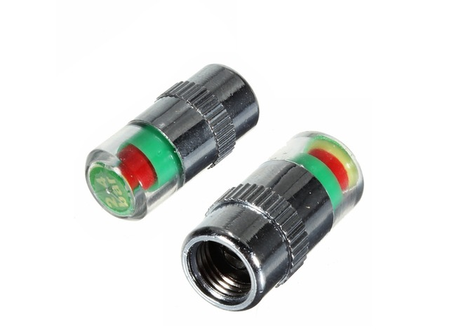 2pcs 36 PSI Tire Pressure Indicator Valve Cap LED Indicator Eye Alert | free-classifieds-usa.com