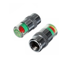 2pcs 36 PSI Tire Pressure Indicator Valve Cap LED Indicator Eye Alert