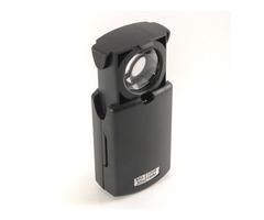 30X Pull Type 21mm Eye Magnifier Loupe with LED Illuminated Light