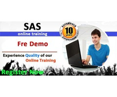SAS online training Interested people Register Now Attend Free Demo