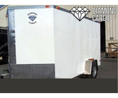 V Nose Single Axle Cargo Trailer
