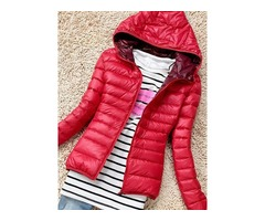 Multi Colors Hooded Light Womens Jacket