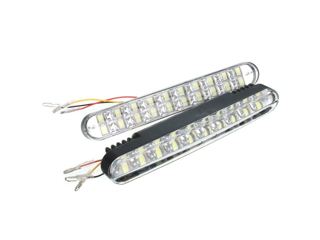 2pcs 20SMD 5050 White 10SMD 3528 Yellow LED Car Daytime Running Lights DRL with Turn Lights | free-classifieds-usa.com