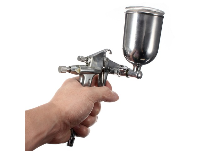 0.5mm HVLP K3 Gravity Feed Air Spray Gun Sprayer Alloy Painting Tool | free-classifieds-usa.com