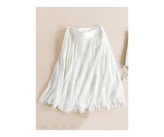 Lace Pleated Knee-Length Womens Skirt | free-classifieds-usa.com