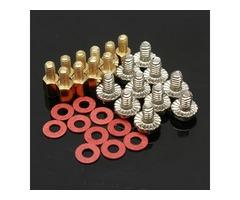10x 6.5mm Brass Standoff 6-32 - M3 PC Case Motherboard Riser Screws Washers | free-classifieds-usa.com