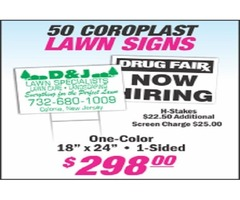 Customize your own campaign sign design or yard sign at low cost