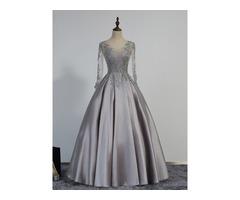 Vintage V-Neck Appliques Beading Evening Dress