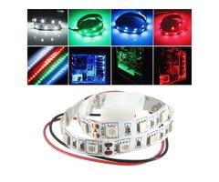 25CM SMD 5050 Non-Wtaterproof LED Flexible Strip Light PC Computer Case Adhesive Lamp 12V