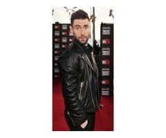 Adam Levin Stylish Black Leather Jacket