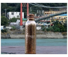 Shop for Copper Water Bottle Hammered for Kids 600 ml
