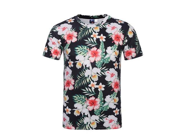 7b5b693ed52 Tidebuy Summer Floral Print Mens Short Sleeve T-Shirt - Clothing ...
