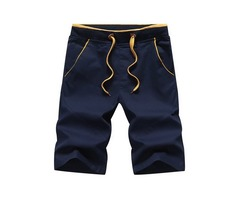 Tidebuy Plain Knee Length Mens Loose Board Shorts