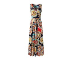 Tidebuy Pullover A-Line V-neck Womens Maxi Dress