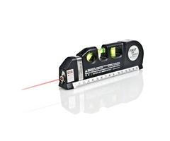 Loskii DX-013 Multipurpose Laser Level Horizontal Vertical Measure Tape Aligner Ruler 3 Bubbles