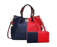 Vogue Color Block PU Bag Set