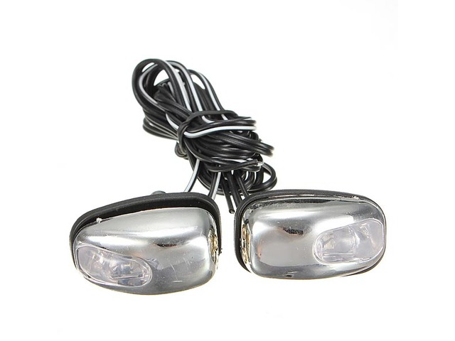 Chrome LED Light Lamp Wind Shield Jet Spray Nozzle Wiper Washer Eyes | free-classifieds-usa.com