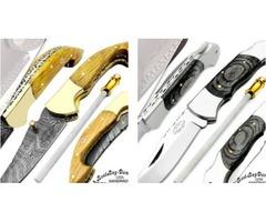 Handmade Damascus Steel Hunting Knife