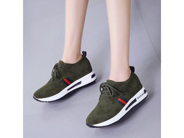 060b4db721e PU Patchwork Hidden Heel Womens Sneakers - Clothing - Princeton ...
