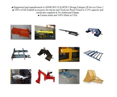 Forklift Lifting Equipment Agriculture attachments Big Bag Fork Truck Attachment