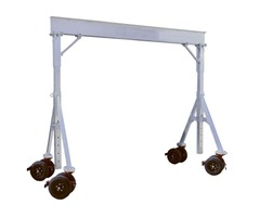 Lightweight and portable folding aluminum gantry cranes, movable, under load