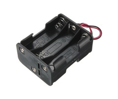 6-Slot 6 x AA Battery Back To Back Holder Case Box With Leads