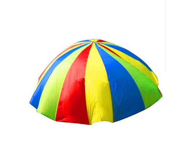 2m Child Outdoor Rainbow Umbrella Parachute Toy Kindergarten Parent-Child Umbrella Rally | free-classifieds-usa.com
