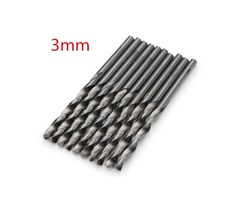 10pcs 3.0mm Micro HSS Twist Drill Bits Straight Shank Auger Bits For Electrical Drill