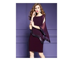 Tidebuy Asymmetric Slim Womens Dress