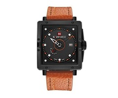 Men Quartz Fashion Wristwatch with Leather Strap