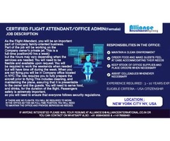 Certified Flight Attendant/Office Admin  (Female)