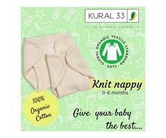 Organic knit nappy