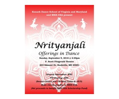 The KONARK Dance School and MKK-USA present NRITYANJALI (Offerings in Dance)