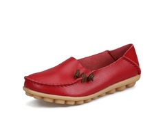 Large Size Soft Leather Multi-Way Flat Loafers For Women