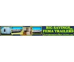 Big Savings on FEMA Trailers & Mobile Homes!