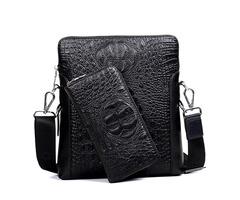 Crocodile Pattern Business Mens Shoulder Bag
