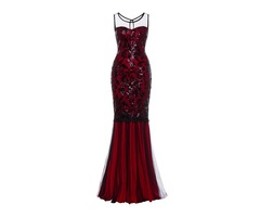 Floor-Length Sleeveless Mermaid Womens Maxi Dress