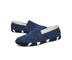 Color Block Slip-On Canvas Shoes for Men | free-classifieds-usa.com