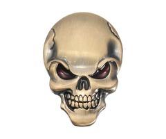 Demon Skulls Metal 3D Car Sticker Skull Bone Emblem Badge Decals Sticker