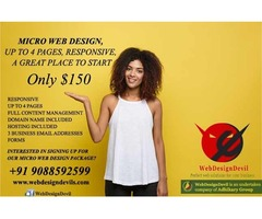 Responsive Web Design Upto 4 Pages Only USD150