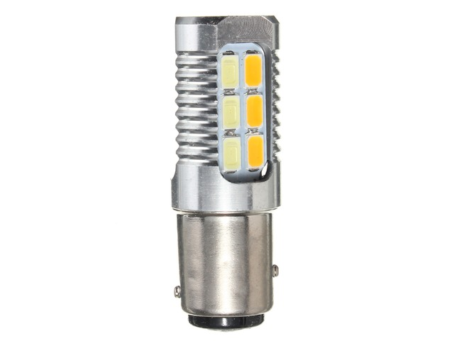 1157 4W 5630 Yellow White LED Dual Color Switchback Turn Signal Light Bulb | free-classifieds-usa.com