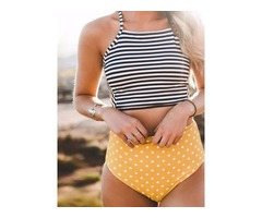 Polka Dots Highwaist 2-Pcs Tankini Set
