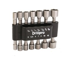 Drillpro 14pcs 1/4 Inch Hex Shank Power Nut Driver Drill Bit Set SAE Metric Socket Wrench Screw Scre | free-classifieds-usa.com