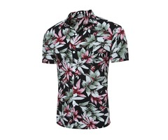 Tidebuy Summer Floral Print Mens Short Sleeve Shirt | free-classifieds-usa.com