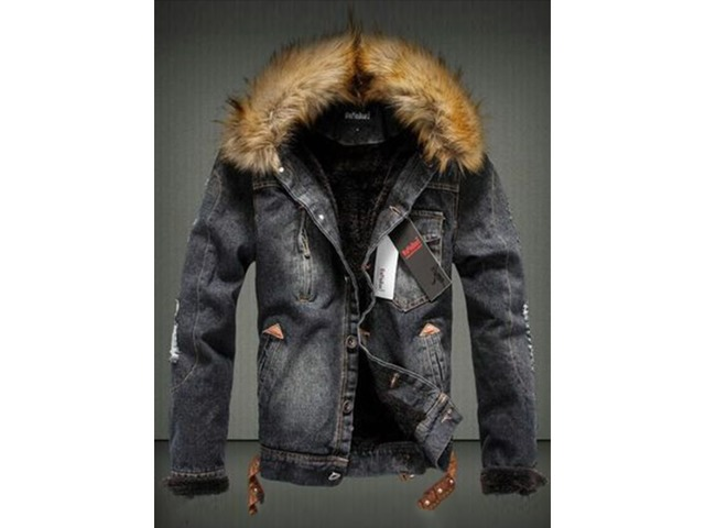 6018bec2ae8 Tidebuy Faux Fur Hooded Button Mens Denim Jacket - Clothing - Munich ...