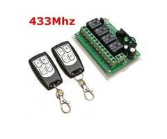 Geekcreit® 12V 4CH Channel 433Mhz Wireless Remote Control Switch With 2 Transmitter | free-classifieds-usa.com