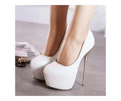 European Sequins Stiletto Heel Prom Shoes
